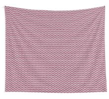 zigzag seamless knitting pink pattern Wall Tapestry