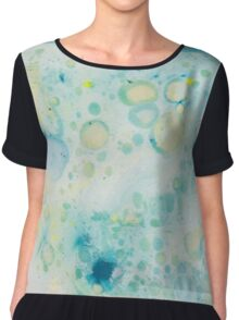Marbling Designs Chiffon Top