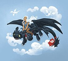 Dragon Rider by dooomcat