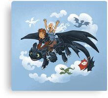 Dragon Riders Ver 2 Canvas Print