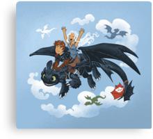 Dragon Riders Ver 2 Canvas Print