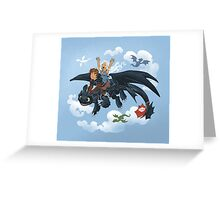 Dragon Riders Ver 2 Greeting Card