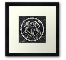 United States Coast Guard Emblem Polished Granite Framed Print