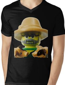 Lego Farmer minifigure Mens V-Neck T-Shirt
