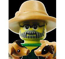 Lego Farmer minifigure Photographic Print