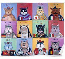 International Cats Poster