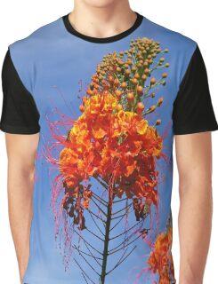 Red Orange Flower  Graphic T-Shirt