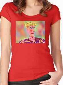 Donald Trump, by Roger Pickar, Goofy America Women's Fitted Scoop T-Shirt