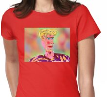 Donald Trump, by Roger Pickar, Goofy America Womens Fitted T-Shirt