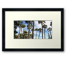 Palm Tree Peace Framed Print