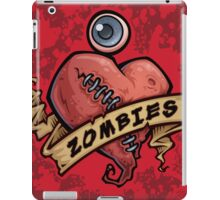 I Love Zombies... with Blood iPad Case/Skin