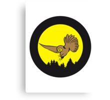 Hunt night owl bird Canvas Print