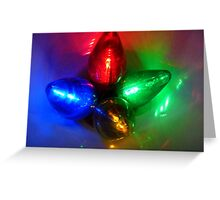 Brights Lights Of Christmas Greeting Card