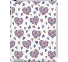 Cute colorful doodle heart iPad Case/Skin
