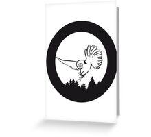 Hunt night owl bird Greeting Card