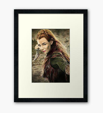Tauriel Portrait- The Hobbit, Desolation of Smaug Framed Print