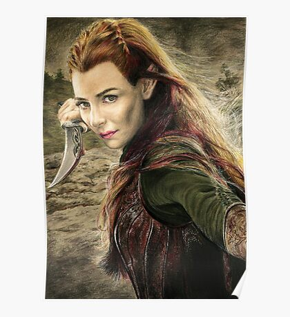 Tauriel Portrait- The Hobbit, Desolation of Smaug Poster
