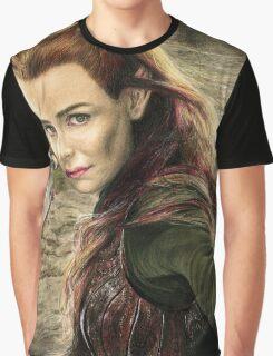 Tauriel Portrait- The Hobbit, Desolation of Smaug Graphic T-Shirt