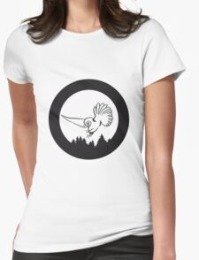 Hunt night owl bird Womens Fitted T-Shirt