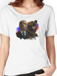 Putin And Bear Women's Relaxed Fit T-Shirt