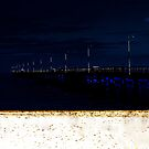 busselton jetty in the darkness  by lilli robertson