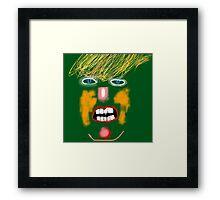 Green Donald Trump, by Roger Pickar, Goofy America Framed Print