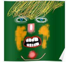 Green Donald Trump, by Roger Pickar, Goofy America Poster