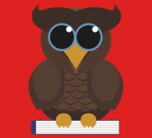 Owl Sitting on a Book One Piece - Short Sleeve