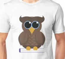 Owl Sitting on a Book Unisex T-Shirt