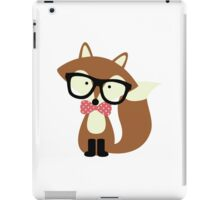 Red Bow Tie Hipster Fox iPad Case/Skin