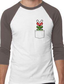 8-Bit Mario Pocket Piranha Plant Men's Baseball ¾ T-Shirt