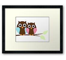 Owl love you Framed Print
