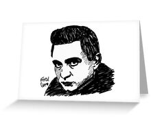 Just A Man In Black Greeting Card