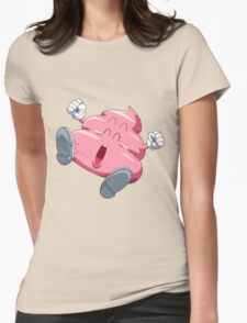 poop pink Womens Fitted T-Shirt