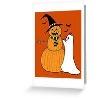 Pumpkin Snowman Greeting Card