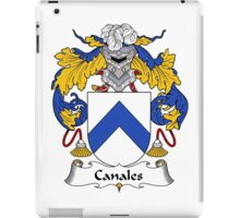 Canales Coat of Arms/Family Crest iPad Case/Skin
