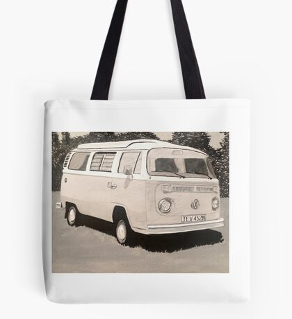 VW Type 2 Campervan Tote Bag
