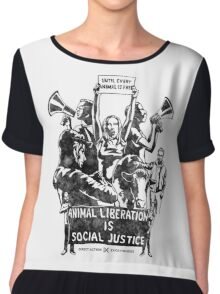 Liberation (black) Chiffon Top