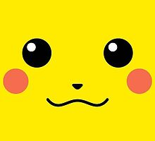 Pikachu Face Design  by Elkins
