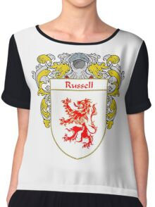 Russell Coat of Arms / Russell Family Crest Chiffon Top