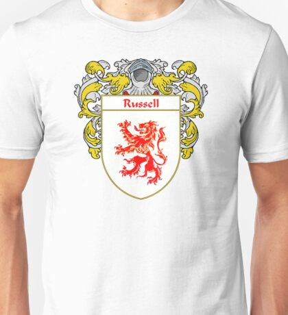 Russell Coat of Arms / Russell Family Crest Unisex T-Shirt