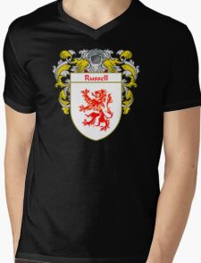 Russell Coat of Arms / Russell Family Crest Mens V-Neck T-Shirt