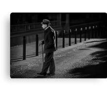 Lonely  are the streets at night Canvas Print