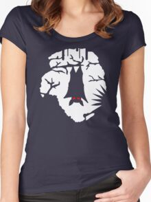 Vampire Bat Cave Women's Fitted Scoop T-Shirt