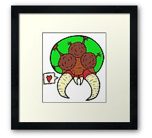 Metroid love Framed Print