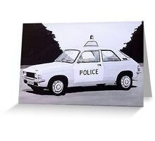 Austin Allegro Police Car Greeting Card
