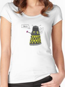 Bee Dalek  Women's Fitted Scoop T-Shirt