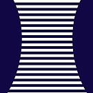 Optical Illusion Hourglass Pattern with Stripes by Greenbaby