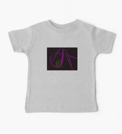 Black Background Abstract Art Baby Tee