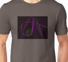 Black Background Abstract Art Unisex T-Shirt
